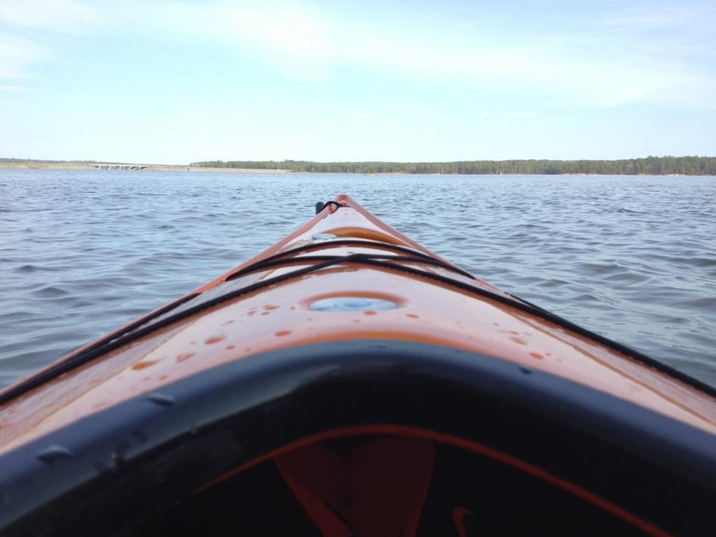 Jordan Lake bow view.